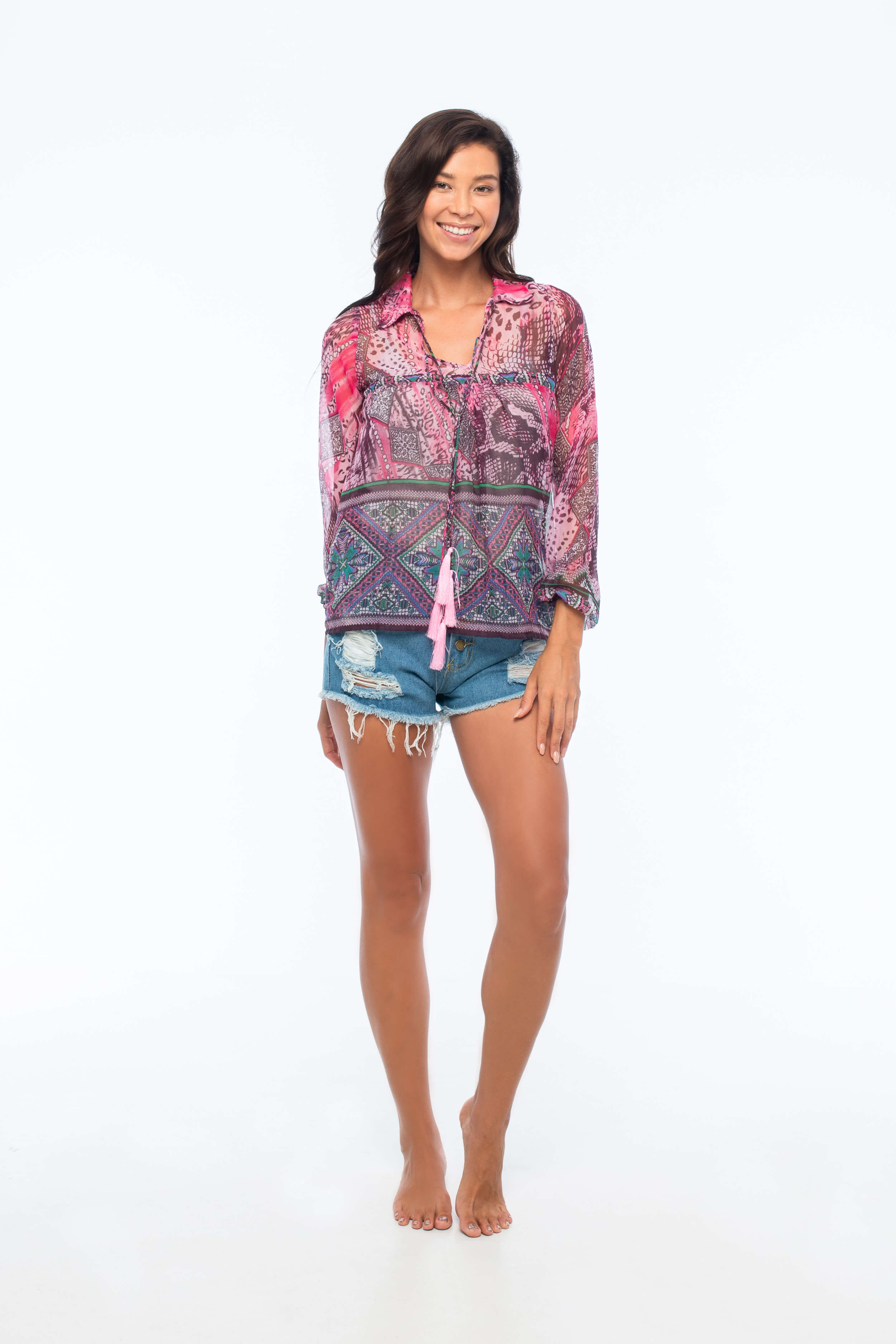 D by dashoppe Aloha Fox Blouse Front Looks.