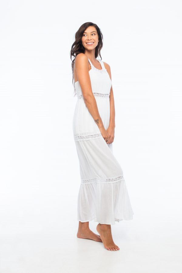 D by dashoppe Cami Maxi Relaxed White Dress.