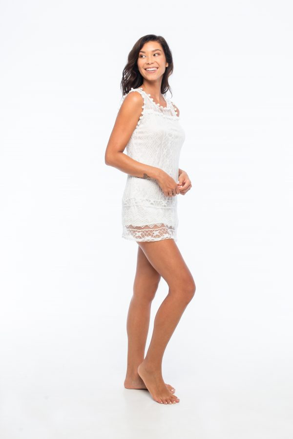 D by dashoppe Chic Blanco White Mini dress.
