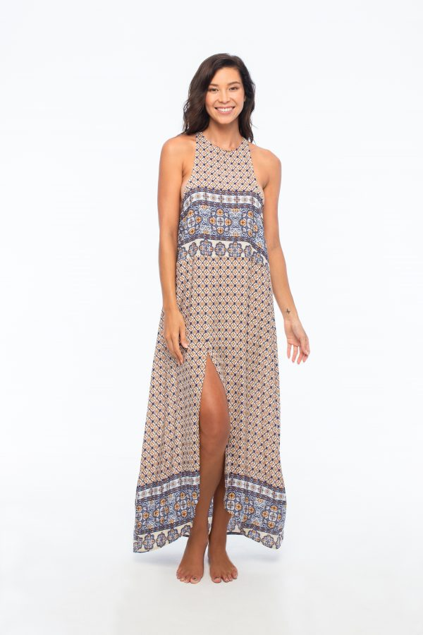 D by dashoppe Daszki Glowe Brown Maxi Dress.