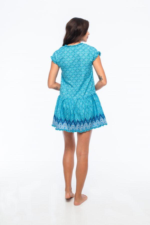 D by dashoppe Flower Mini Strip Blue Dress.
