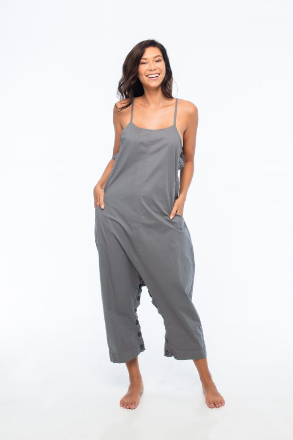 D by dashoppe Comfy Loose Round Ankle Grey Jumpsuit.