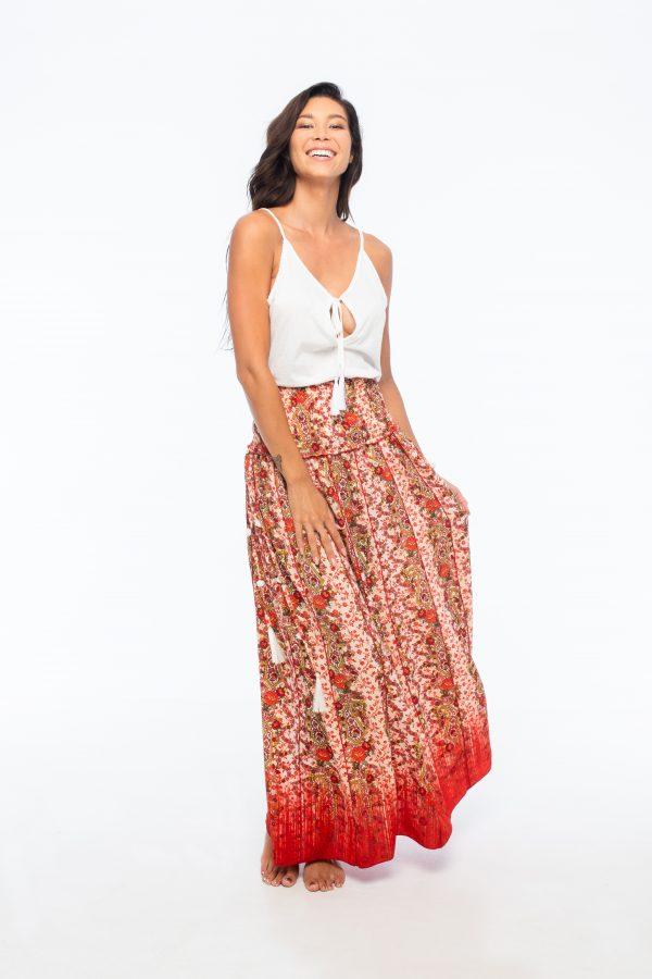 D by dashoppe Mya Long Skirt Orange Sweet and Hard Dress.