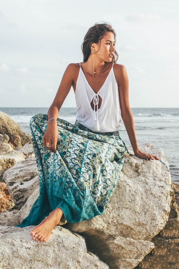 D by dashoppe Mya Long Skirt Turquoise