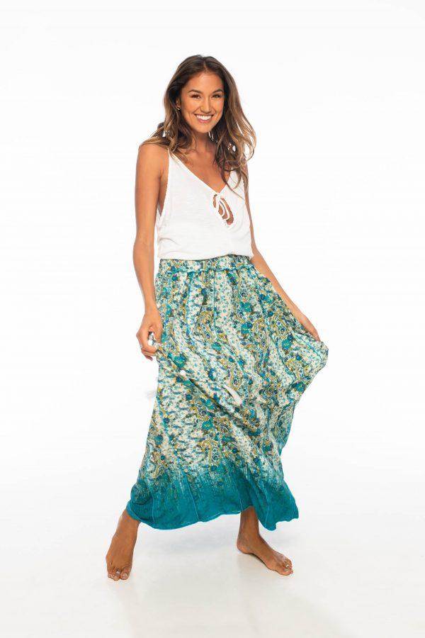 D by dashoppe Sweet Mya Long Skirt Turquoise Dress.
