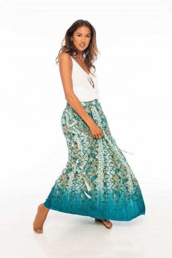 D by dashoppe Mya Long Skirt Turquoise Sweet Dress.