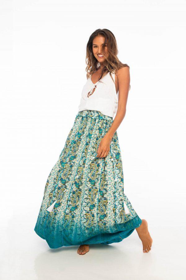 D by dashoppe Mya Long Skirt Turquoise Dress.