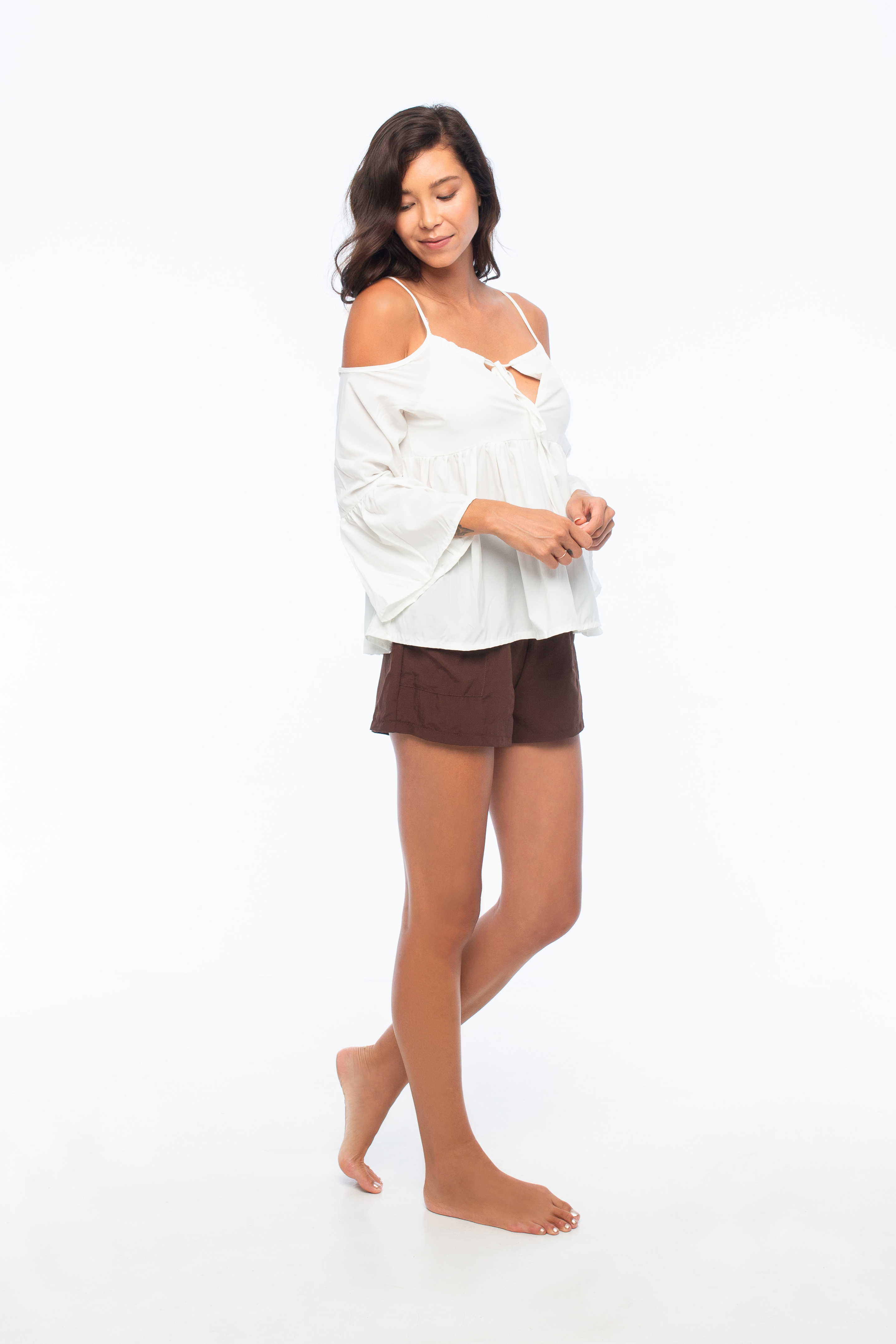 D by dashoppe Spaghetti Strap Cold Top Shoulders.
