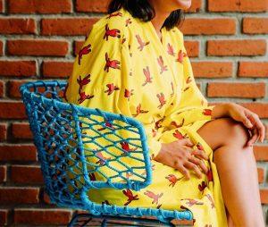 Yellow Adult Rabbit Kimono